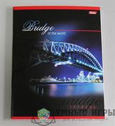 Тетрадь 80 листов  Мосты  клетка