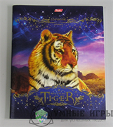 Тетрадь 48 л Тигры  клетка